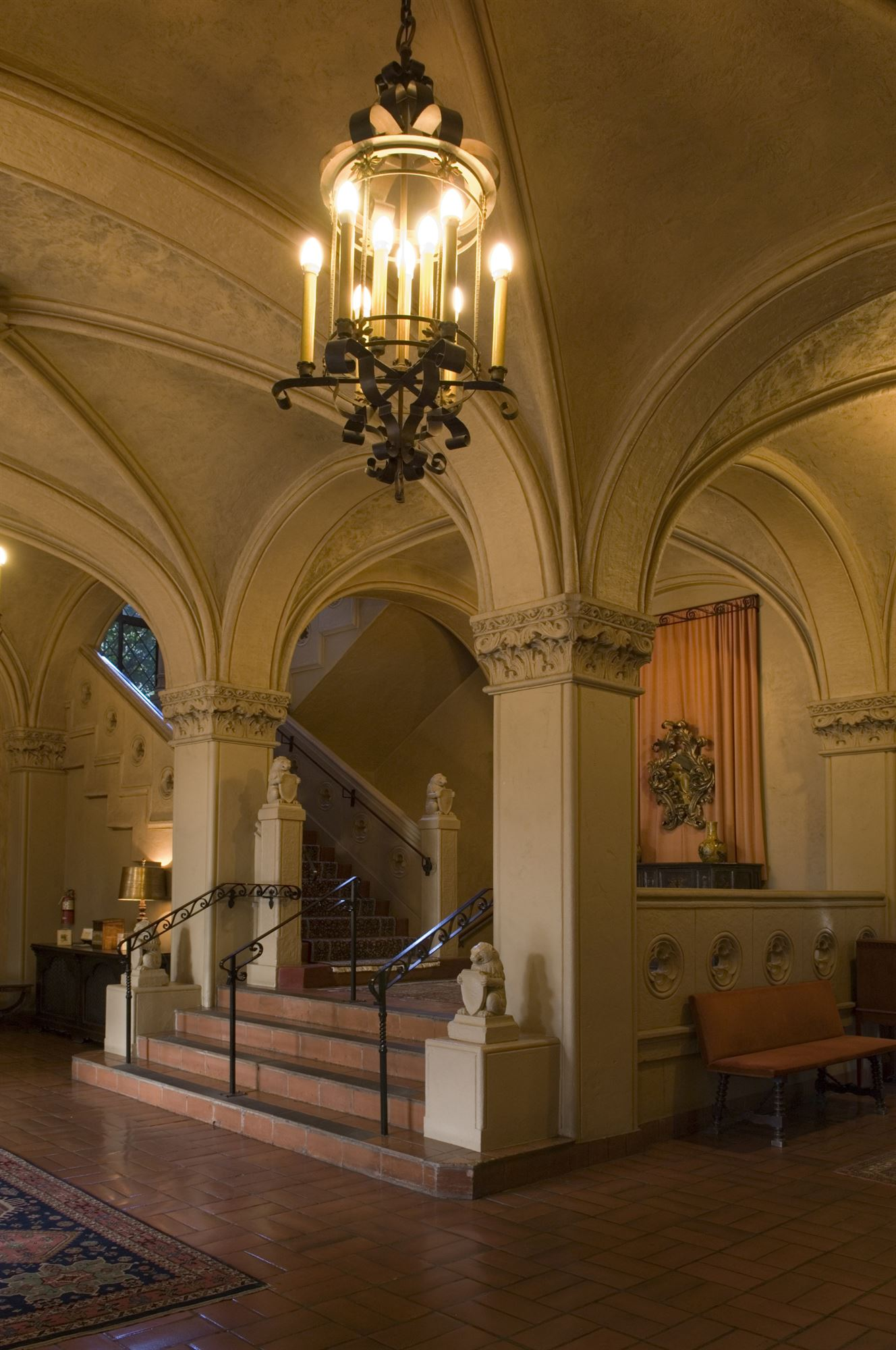 Lobby and Chandelier